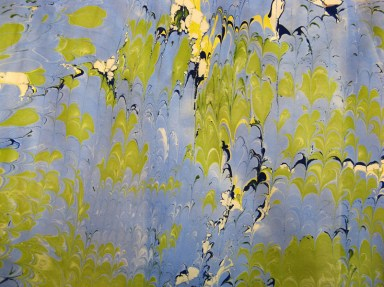 Marbled Paper Marbling Example-14 Photo by Lili's Bookbinding Blog - http://lilbookbinder.wordpress.com/marbled-paper/