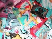 Spray Paint Marbled Paper