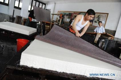 Laying the Xuan Paper