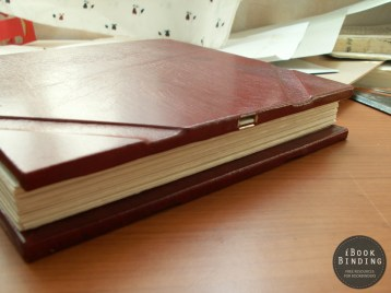 Wedding Photo Album with an USB Flash Drive Inside the Cover for Storing Photos