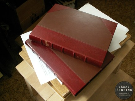 Leather Case Binding with Fake Raised Bands