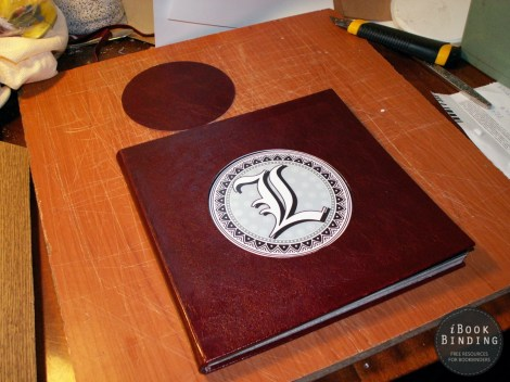 Leather Album with a Round Cutout
