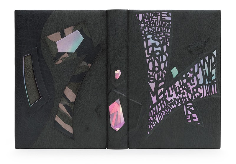 Prize for Finishing given by St Bride Foundation — Kaori Maki. Nineteen Eighty-Four by George Orwell. Photo by Designer Bookbinders