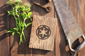 2015.12.16 - Star Wars Meets Bookbinding 24 Wood and Root