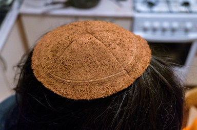 2016.08.19 - 02 - Making Leather Kippot - A Side Job for a Bookbininder