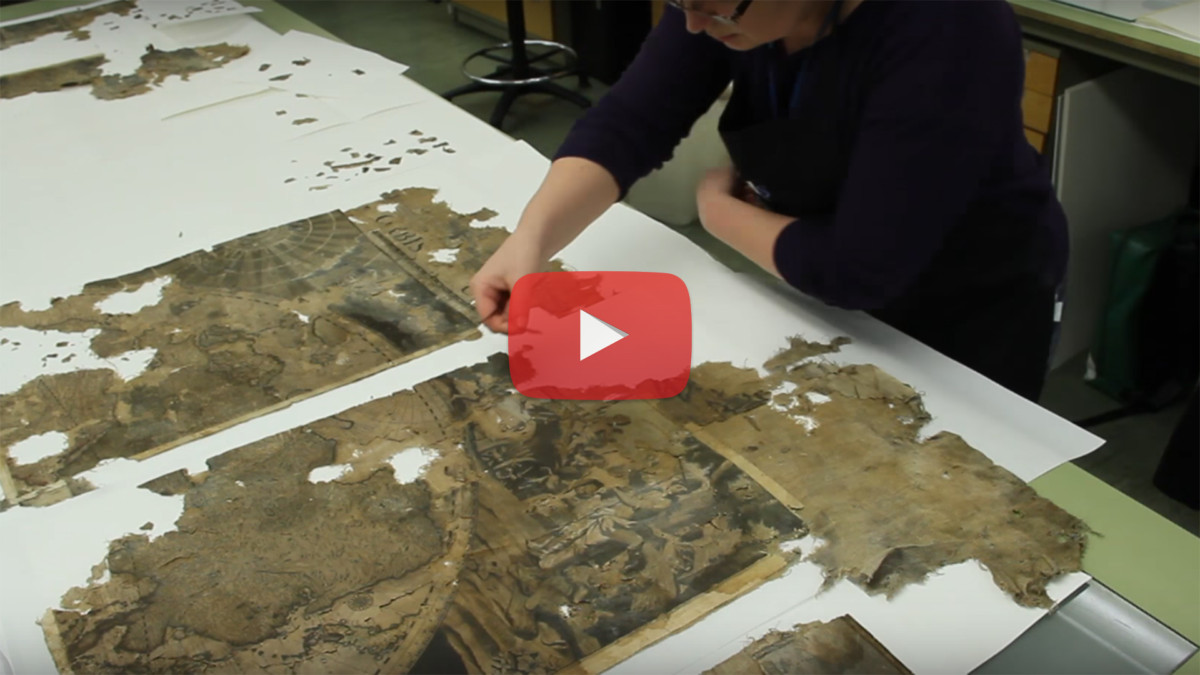 Fascinating Process of Restoration of a 17th Century Map