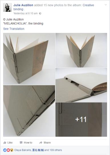2017.02.21 - Beautiful Bookbinding-Themed Facebook Accounts - Julie Auzillon 01