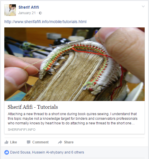 2017.02.21 - Beautiful Bookbinding-Themed Facebook Accounts - Sherif Afifi 03