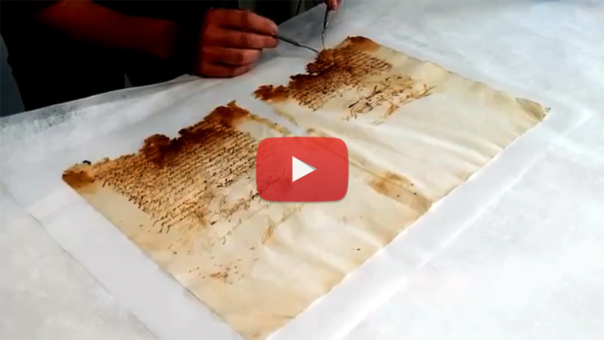 Restoring Pages of a 300 Year Old Book