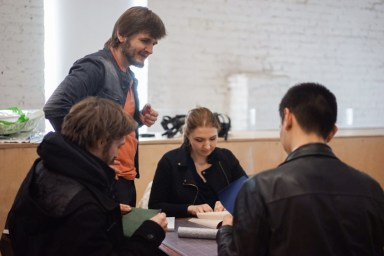 2017.04.09 - Long Stich Binding Workshop at Shalom Moscow - Photo by Alexandra Malikova 03