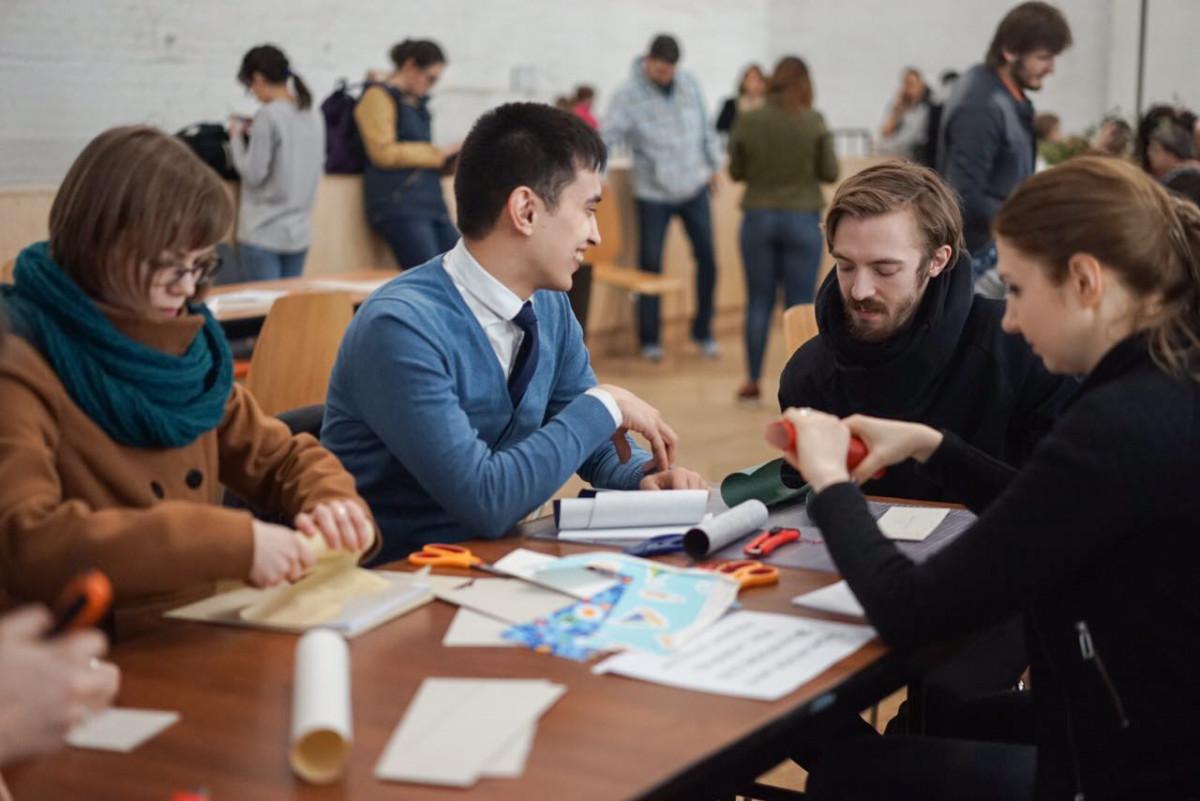 2017.04.09 - Long Stich Binding Workshop at Shalom Moscow - Photo by Alexandra Malikova 08