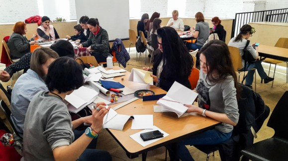 2017.04.09 - Long Stitch Binding Workshop at Shalom Moscow 03
