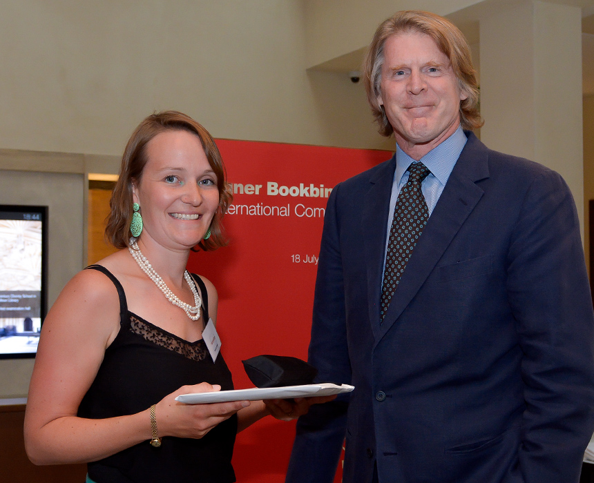2017.08.18 - Designer Bookbinders International Competition 2017 - Distingiushed Winners - Hannah Brown with Mark Getty KBE