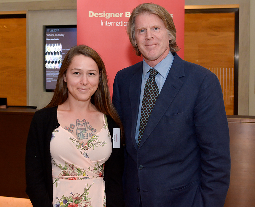 2017.08.18 - Designer Bookbinders International Competition 2017 - Distingiushed Winners - Kaitlin Barber with Mark Getty KBE