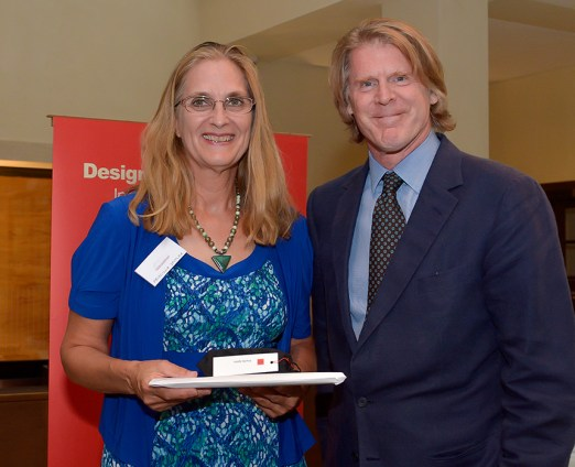 2017.08.18 - Designer Bookbinders International Competition 2017 - Distingiushed Winners - Priscilla Spitler with Mark Getty KBE