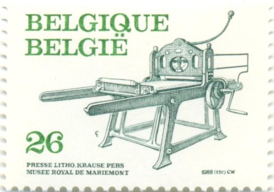 Belgium 1988 Mi BE 2363 - Presse Litho Krause - Musee Royal de Mariemont