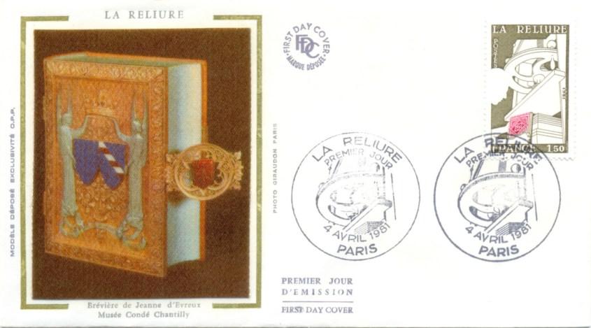 France 1981 Mi FR 2256 - FDC Envelope - La Reliure