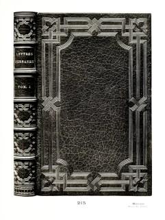 Montesquieu - Lettres Persanes. Paris, 1886, in-8. Binding - Mercier, pere