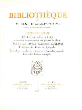 2018.10.24 - Digitized Book of The Week - The Third Volume of the Descamps-Scrive Library 04 - Title