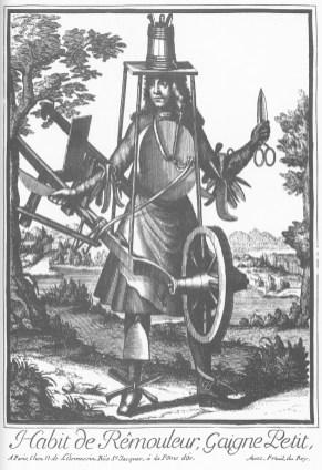Nicolas de Lermessin - Costumes grotesques - Habit de remouleur