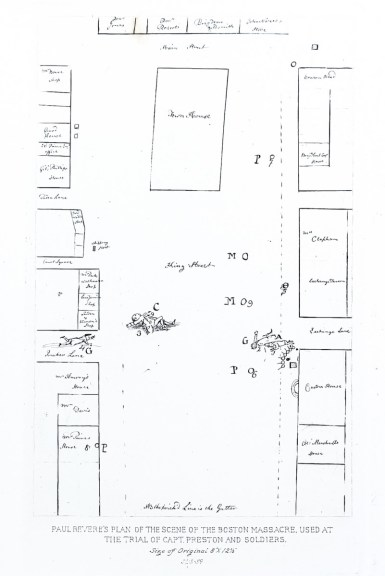 Paul Rever's Plan of the Scene of the Boston Massacre