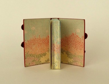 """The Clothworkers' Prize for Open Choice Book, 1st Prize. """"The Island"""" by Geert Mak. Binding: Yuko Matsuno"""