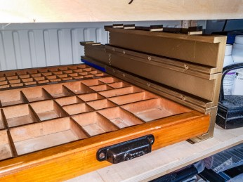 2018.12.17 - Recent Updates to My Bookbinding Workbenches - Type Trays 05