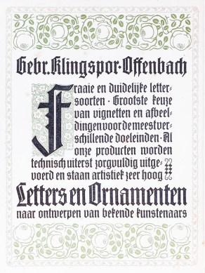 2019.02.21 - Amazing Century-Old Book Industry Ads - Gebr. Klingspor-Offenbach 1