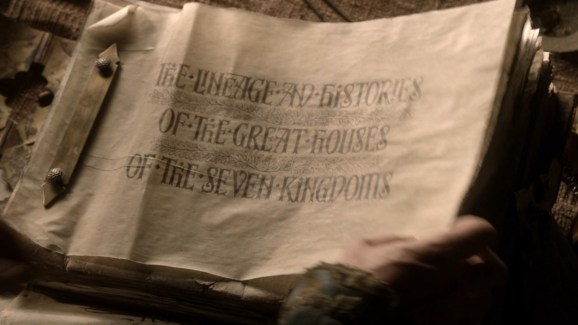 GoT S01E04 00.21.43 - The Lineage and Histories of the Great Houses of the Seven Kingdoms