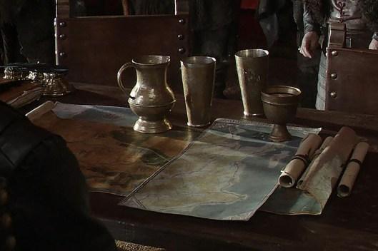 GoT S01E08 00.45.33 - Tywin Lannister's war tent - close-up of maps