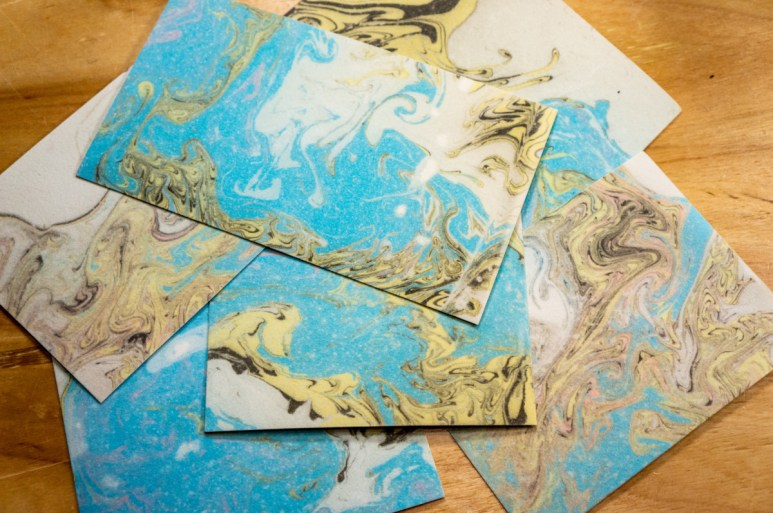 2019.03.11 - Marbled Velour Paper - Heaven for Visual and Kinesthetic Persons Alike! 02