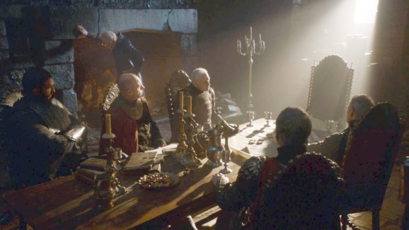 GoT S02E08 00.15.14 - Tywin Lannister' war council at Harrenhal