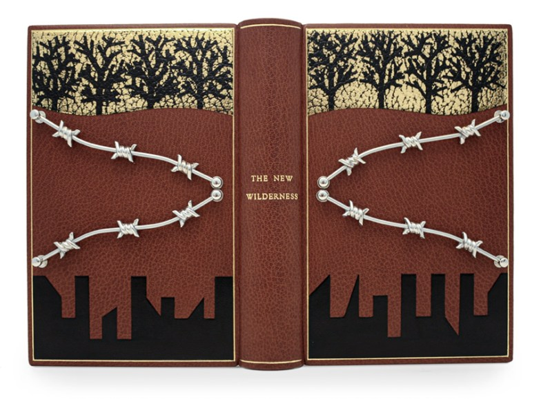2020.11.26 - Booker Prize Short List Design Bindings - 1 - Stuart Brockman - The New Wilderness by Diane Cook (Oneworld Publications, 2020)