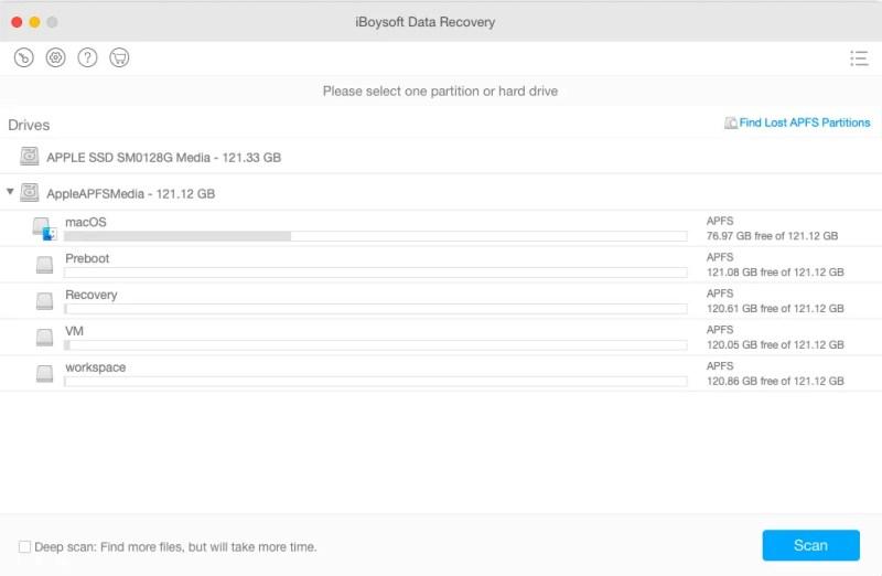 APFS Data Recovery for Mac 5.9.9 破解版 - APFS磁盘格式数据恢复工具