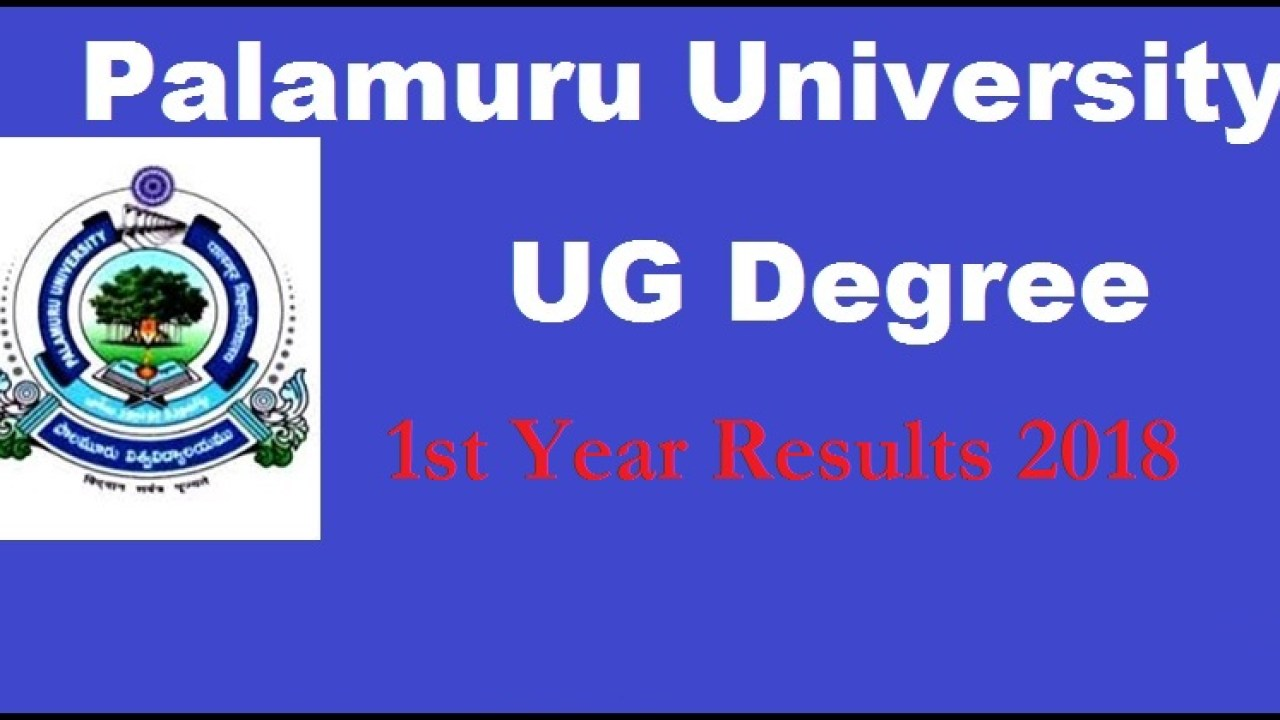 PU Degree 1st Year Results 2018 Palamuru University BA Bcom BSC BBM