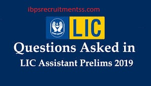 LIC ASSISTANT REASONING MEMORY BASED QUESTION PAPER 30.10.2019