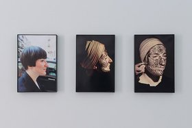 Taus Makhacheva, Delinking, 2011, three colour photographs. Courtesy of the artist and Laura Bulian Gallery. Installation image courtesy of Sharjah Art Foundation.