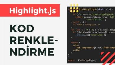 Photo of Highlight.js ile Kod Renklendirme
