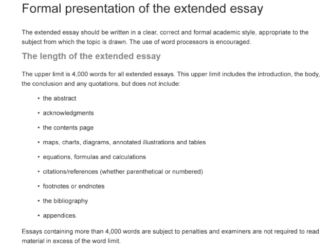 Essay Word Count References