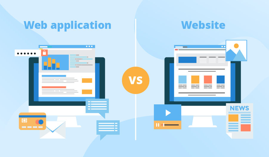 الفرق بين تصميم المواقع وتطبيقات الويب