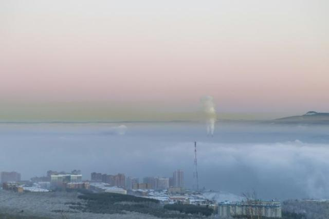 Activists want air pollution to be considered as a potential ecocide. This picture shows pollution over the Russian industrial city of Krasnoyarsk in 2018