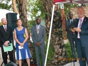 Le Premier conseiller M. David K. Young, prononçant son discours de bienvenu aux invités