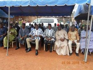 Les officiels avec au premier plan le Président par intérim du MPP et président de l'Assemblée nationale le Dr. Salifou Diallo