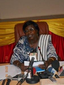 La présidente de l'ARSE, Mme Mariam Nikièma