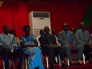 Les autorités burkinabè à la cérémonie d'ouverture