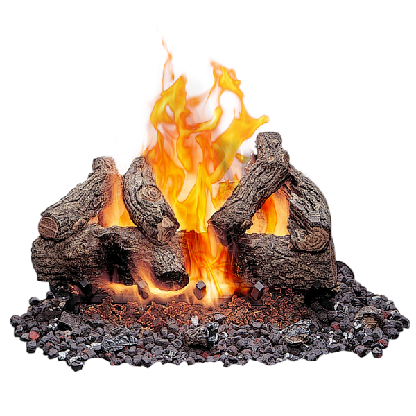 Gas Logs Outdoor Fireplace