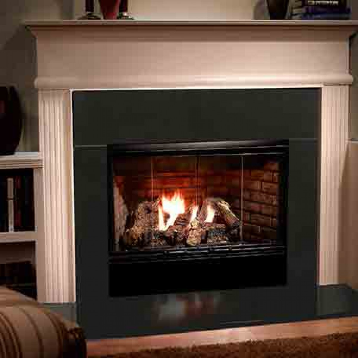 Majestic Reveal Open Hearth B Vent Gas Fireplace Radiant