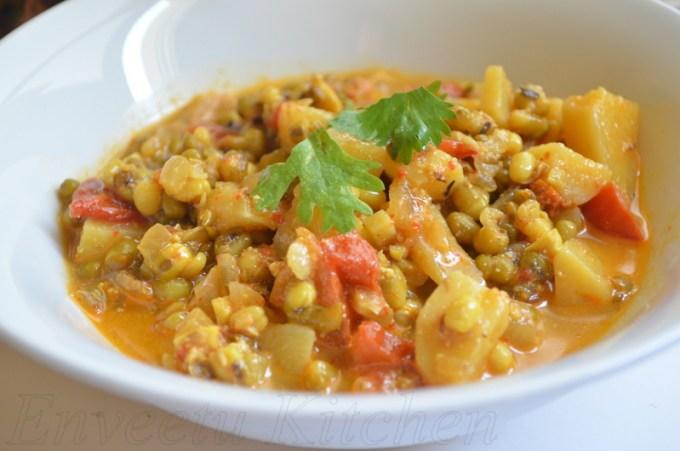 Potato & Mung bean curry