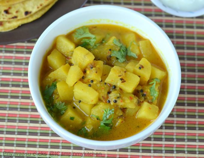 Potato curry, Potato side-dish, potato gravy