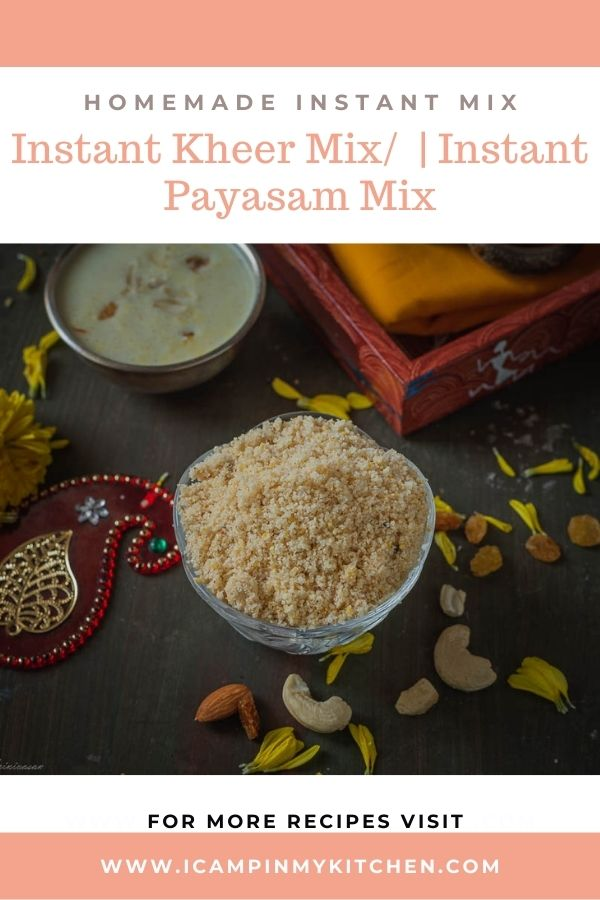 Instant kheer mix pin